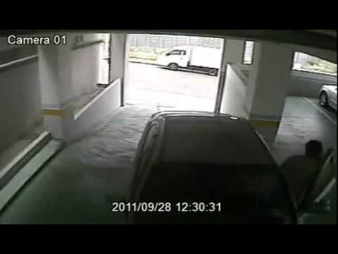 Woman Driver Vs. Parking Garage Video