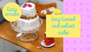 Tiny Tiered Red Velvet Cake by Tastemade