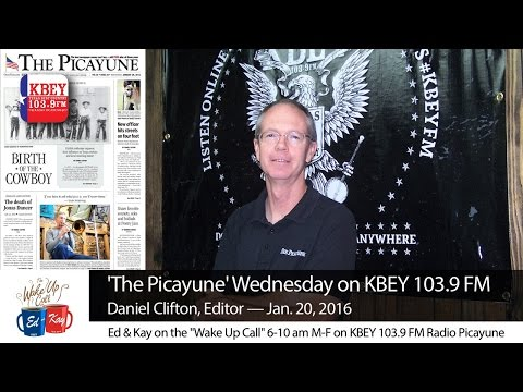 Daniel Clifton, editor of 'The Picayune' newspaper, stopped by the KBEY-FM studio to tell Ed & Kay about what's inside this week's edition.