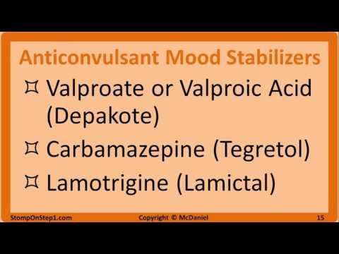 Antipsychotics, Mood Stabilzers Anxiolytics