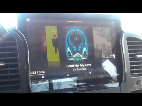 Samsung tablet 10.1 car install part 2