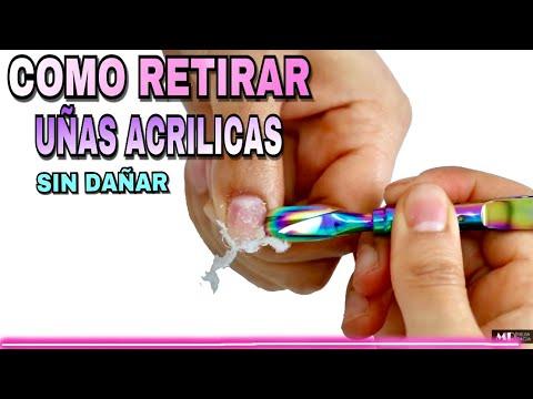 Uñas acrilicas - CLASE #6 Principiantes Uñas Acrílicas/Como retirar correctamente uñas acrílicas sin dañar
