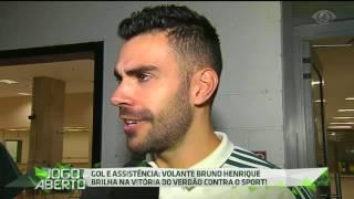 O volante celebrou a sua atuação na vitória contra o Sport por 2 a 0 e afirmou que contou com a sorte no momento em que fez o seu primeiro gol com a camisa do Palmeiras.