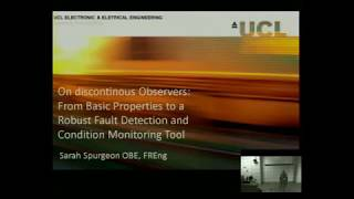 Introduction to Sliding Mode Observers II - Lecture by Sarah K Spurgeon