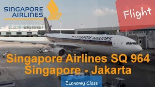 Singapore Airlines - SQ 964 Date: 22 July 2017 From: Singapore To : Jakarta (CGK) Acuial Flight Time : 1:22 Departure : 05:40 ...