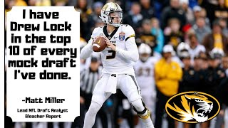 Drew Lock Will Be A Top 10 Pick in the NFL Draft. Mizzou Football.