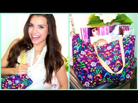 bag - GIY = Glam It Yourself  Learn how to make a fun and durable tote bag for school, work, groceries, or whatever your little heart desires! (: Watch my $20 BTS...
