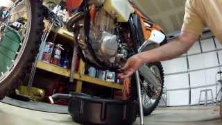 7. 2013 KTM 500 EXC Oil Change
