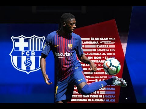 Dembele Fails At Ball-juggling At Barcelona Unveiling