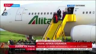 Pope Francis Arrives In Uganda From Kenya On His Maiden Trip To Africa