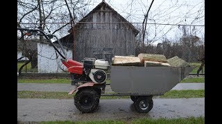 Video Homemade TRAILER For MOTOCULTIVATOR ! (MOTO WHEELBARROW) MP3, 3GP, MP4, WEBM, AVI, FLV April 2019