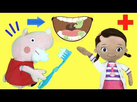 Peppa pig en español / Pepa la cerdita aprende a lavarse los dientes con amigos. Videos para niños