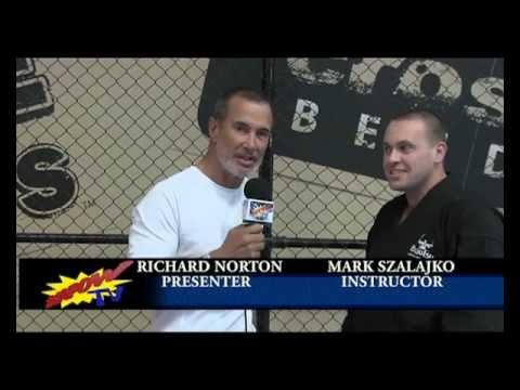 Richard Norton Kapow TV interviews Mark Szalajko Budoshinkai Instructor and Policeman