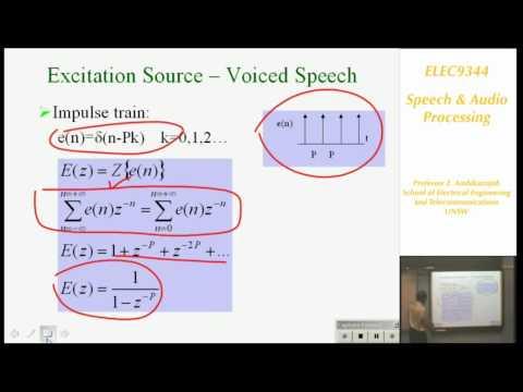 Sprach- und Hörverarbeitung 1: Einführung in die Sprachverarbeitung- Professor E. Ambikairajah