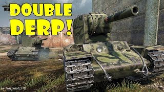 Double DERP action featuring a KV-2 platoon, going ham on the enemy team in World of Tanks! Derp kills galore, nice gameplay and the famous KV-2 RNG - all the ingredients required for an enjoyable Sunday video! (No commentary, only action...)► PLAY WORLD OF TANKS FOR FREE: https://goo.gl/NopXpJ► PLAY WORLD OF WARSHIPS FOR FREE: https://goo.gl/GJhVxS(Official Wargaming affiliate links)REPLAY SUBMISSION / CONTACT: - Replay Website: http://justforlolzfyi.wot-record.com - Emails: JustforlolzFYI@yandex.comWORTH A LOOK:►THE RNG STORE: https://www.teespring.com/stores/the-rng-store►FACEBOOK: https://www.facebook.com/justforlolzfyi►TWITTER: https://twitter.com/JustforlolzFYI►TWITCH: http://www.twitch.tv/justforlolzfyi►FAQ: https://goo.gl/S7kWJq♥ SUPPORT THE CHANNEL:PAYPAL - https://goo.gl/4brPAHMUSIC: (courtesy of Epidemic Sound)Diesel In My Pants - Henrik NeesgaardCREDITS:Channel Art: https://goo.gl/zLZnzAJustforlolzFYI Logo by KatakINTRODUCTION:JustforlolzFYI here, your new favorite World of Tanks YouTuber and creator of the World of Tanks Funny Moments, World of Tanks Arty Party and World of Tanks TOP 5 series! Daily videos covering funny moments compilations, RNG montages, EPIC gameplay, guides, reviews, regular giveaways and more!  Want to see your World of Tanks gameplay or funny moment on the channel? Don't hesitate to send in your replay via the email address below, or upload it directly to http://justforlolzfyi.wot-record.com.I mainly play and feature World of Tanks PC, but if you are a fan of World of Tanks Blitz, World of Tanks Xbox One or World of Tanks PS4, your funny moments could still get featured in a special montage! Looking for some live World of Tanks gameplay or want to ask something? Check out my regular World of Tanks TWITCH streams on: http://www.twitch.tv/justforlolzfyiEnjoy the content!