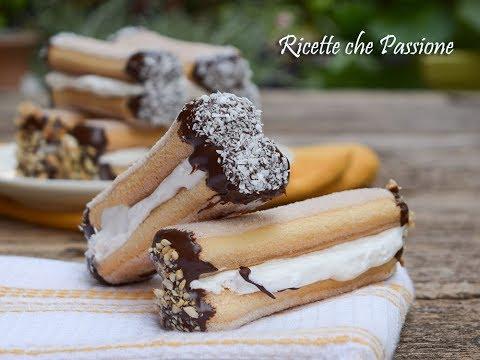 savoiardi panna e cioccolato - ricetta