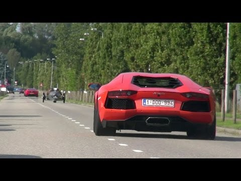 accelerating - Here is another crazy supercar sound video! This video shows an amazing linup, like the new Ferrari F12 Berlinetta, 430 Scuderia, Mercedes-Benz SLR, Lamborgh...
