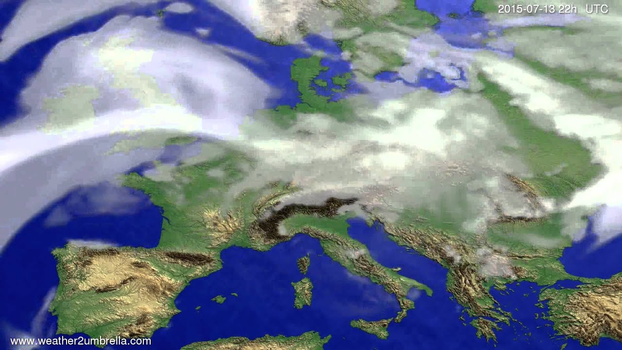 Cloud forecast Europe 2015-07-10