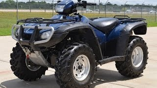 6. 2007 Honda Rubicon 500 4X4 in Blue