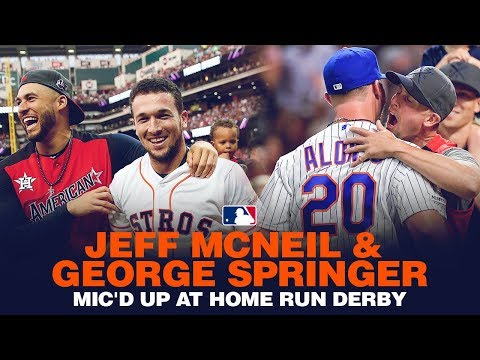 Video: Mic'd Up! George Springer + Jeff McNeil at Home Run Derby (McNeil supporting Pete Alonso!)