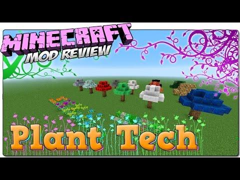 PLANT TECH MOD MINECRAFT 1.8 ESPAÑOL | Modifica plantas y árboles de ores | MINECRAFT MODS