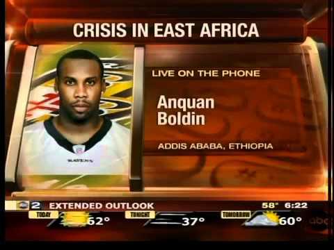 Anquan Boldin on humanitarian trip
