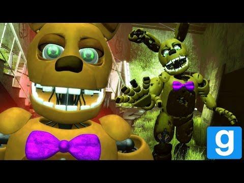FREDBEAR AND SPRING BONNIE SPEAK! || GMOD FNAF (Fredbears Family Diner Animatronics Garrys Mod) (видео)