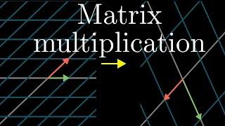 Matrix multiplication as composition | Essence of linear algebra, chapter 4