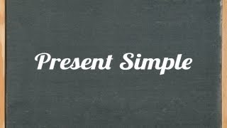 Present Simple Tense, English grammar tutorial