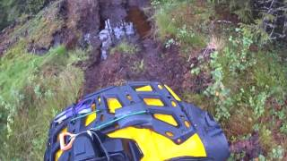 9. Wet atv evening with Can Am Outlander Max 650