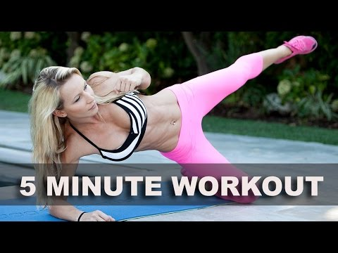 5 minute - This workout focuses on cardio and abs. All you need is an exercise mat and 5 minutes of your time! http://www.ZuzkaLight.com http://www.Facebook.com/ZuzkaLight.