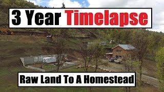 Video 3 Year Timelapse - Raw Land To An Off Grid Homestead - Debt Free MP3, 3GP, MP4, WEBM, AVI, FLV Juli 2019