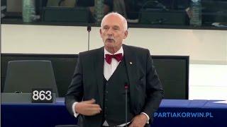 """""""Wy jesteście za głupi nawet by brać łapówki!"""" Korwin ostro pojechał po Europarlamentarzystach"""