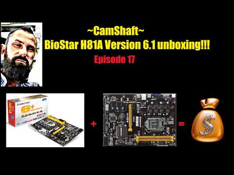 Biostar H81A BTC version 6.1 Unboxing for crypto currency mining!