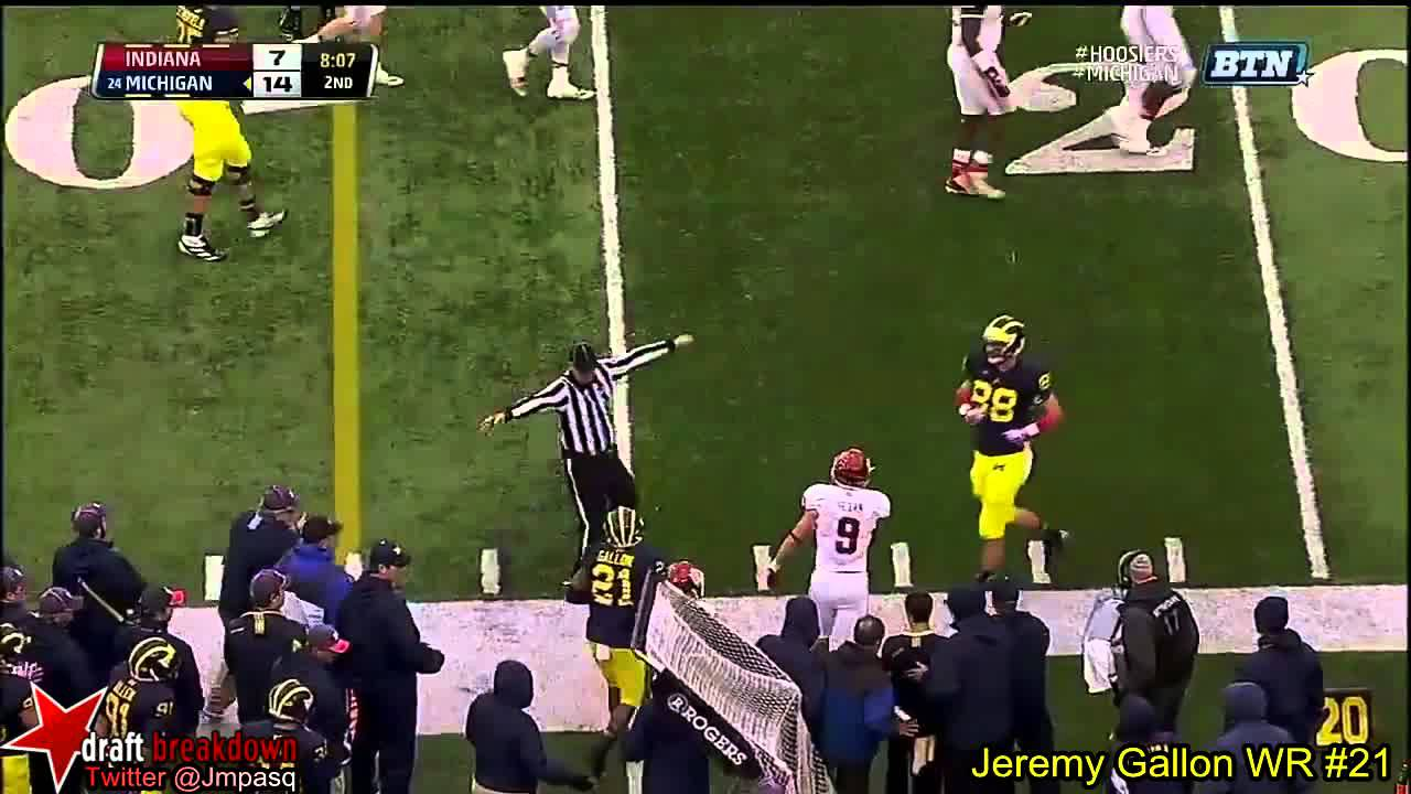 Jeremy Gallon vs Indiana (2013)