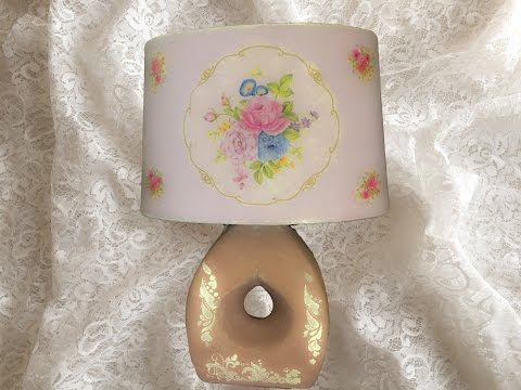 decoupage - come decorare una lampada