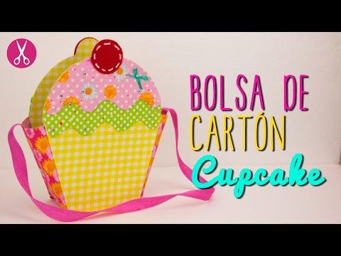 Bolsa de Cartón y Tela , Bolsa en forma Cupcake , Sin Coser , DIY