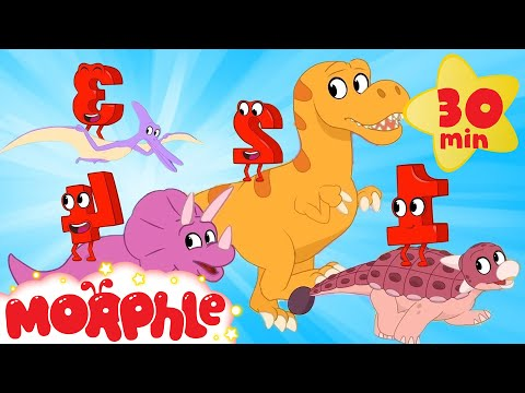Morphle's Magic Numbers - 4 Dinosaurs | ABCs and 123s | Cartoons for Kids | Morphle TV