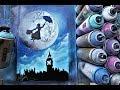 Mary Poppins GLOW IN DARK - SPRAY PAINT ART By Skech
