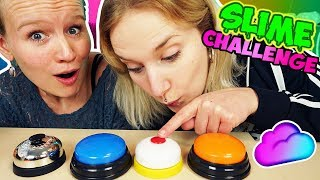 DRÜCK NICHT DEN FALSCHEN KNOPF SCHLEIM CHALLENGE - Kathi VS Nina - Don't push the wrong button Slime