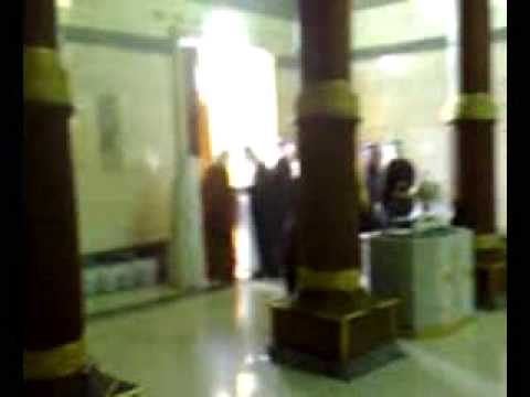 inside kaba - A rare glimpse of the inside of the Kabah. The cameraman is unknown; the video was received as an attachment on a widely circulated email.
