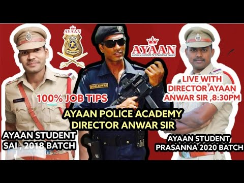 #SI #PC 100% JOB TIPS BY ANWAR SIR JOIN LIVE TODAY 8:30 PM