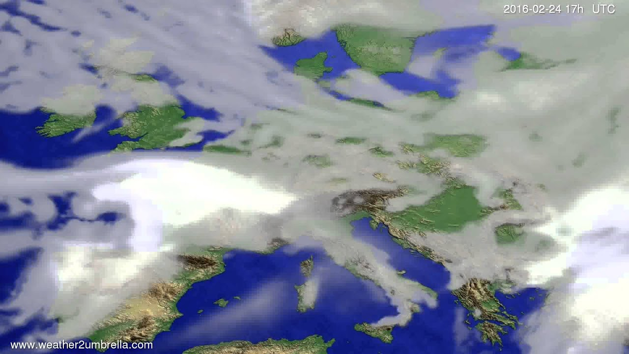 Cloud forecast Europe 2016-02-22
