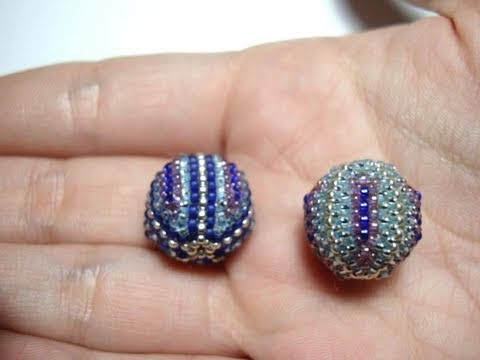 Tutorial perline (Beaded Bead): Come rivestire una perla di legno con perline (Tecnica Peyote)
