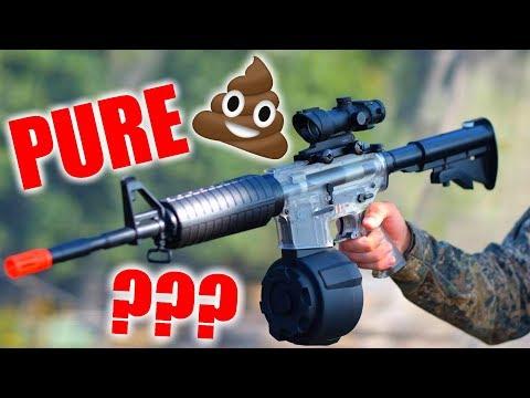 Airsoft Noob gun DESTROYS entire team!