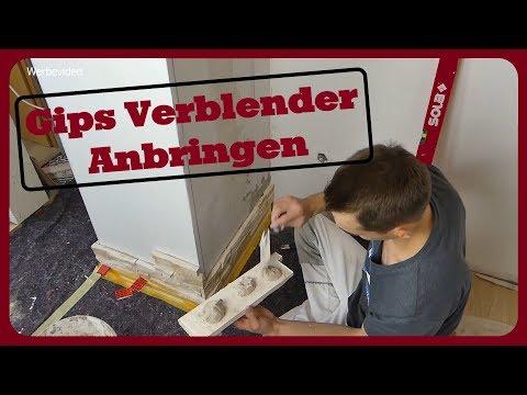 GIPS - Verblender Anbringen│SO GEHT'S RICHTIG│Kreative Wandgestaltung│Teil 1/2 │