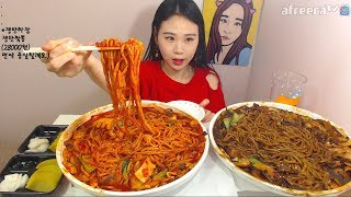 Video 쟁반짜장 쟁반짬뽕 먹방 吃播 Mukbang eating show 180429 MP3, 3GP, MP4, WEBM, AVI, FLV Oktober 2018
