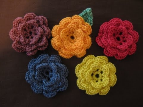 DIY Part 1, Learn to Crochet Flower, Tutorial, DIY, Slow Motion included
