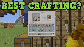 Minecraft Xbox 360 / PS3 Classic vs Automatic Crafting