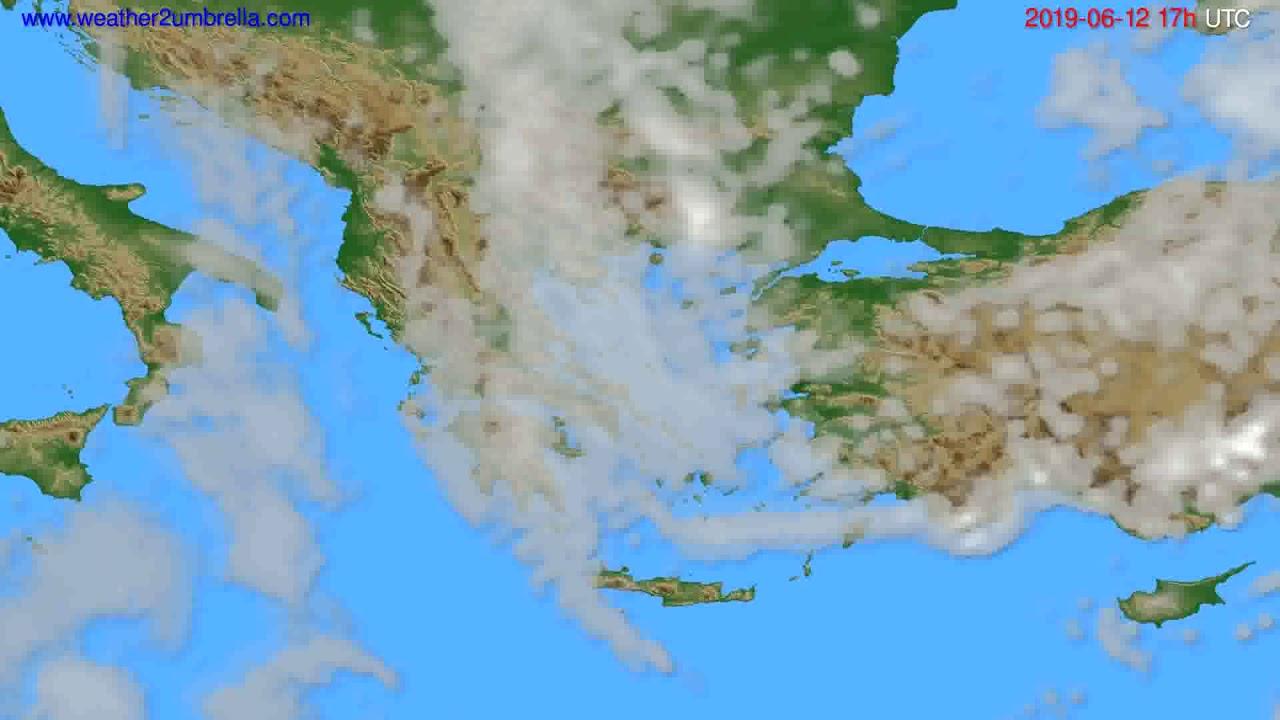 Cloud forecast Greece // modelrun: 00h UTC 2019-06-11